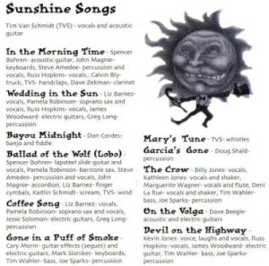 """Sunshine Songs"" Credits by TVS"