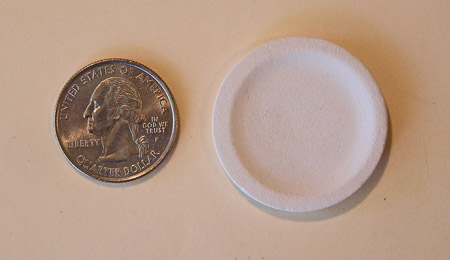 Mini Pottery- 1 1/4 inch plate by TVS