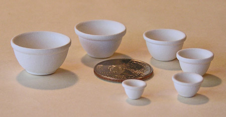 Mini Pottery- 6 Bowl Set by TVS