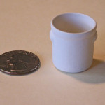 "One /""large platter/"" bisque scale miniature by Tim Van Schmidt"