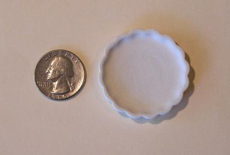 Mini Pottery- Scalloped Tray by TVS